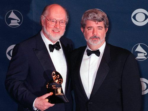 John Williams und George Lucas bei der 41. Verleihung der Grammy-Awards