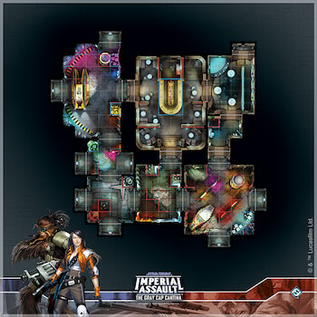 Star Wars: Imperial Assault - Gray Cap Cantina Map