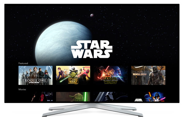 Star Wars auf Disney Plus