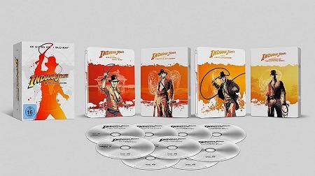 Indiana Jones – 4-Movie Collection - limited Steelbook