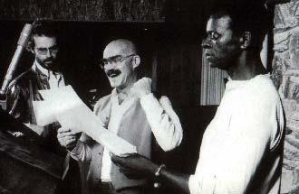 Das dunkle Trio: Motti (Clennon), Tarkin (Curtis) und Darth Vader (Peters)